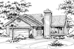 House Plan Front of Home 072D-0160