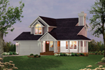 Southern Style Traditional House With Charming Front Coveed Porch
