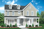 Ranch House Plan Front of House 072D-0954