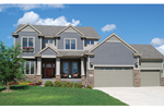 Arts & Crafts House Plan Front of Home - Valley Crest Hill Craftsman 072D-1122 | House Plans and More