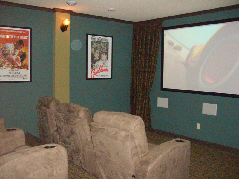 Arts & Crafts House Plan Theater Room Photo 01 - Edsel Arts And Crafts Home 072S-0003 | House Plans and More