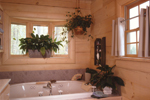 Log House Plan Bathroom Photo 01 - Sitka Rustic Country Log Home 073D-0021 | House Plans and More