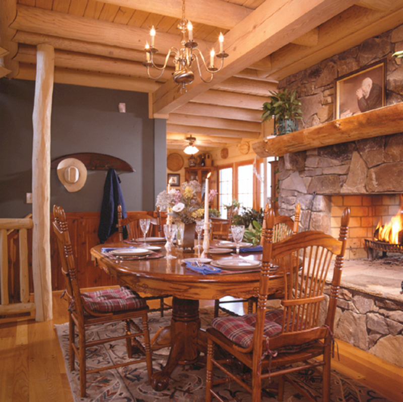Log House Plan Dining Room Photo 01 - Sitka Rustic Country Log Home 073D-0021 | House Plans and More