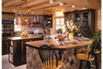 Log House Plan Kitchen Photo 01 - Sitka Rustic Country Log Home 073D-0021 | House Plans and More