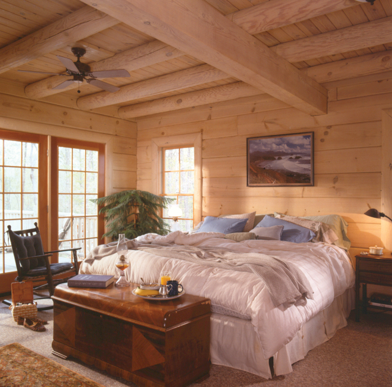 Rustic Home Plan Master Bedroom Photo 01 Sitka Rustic ...