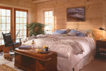 Log House Plan Master Bedroom Photo 01 - Sitka Rustic Country Log Home 073D-0021 | House Plans and More