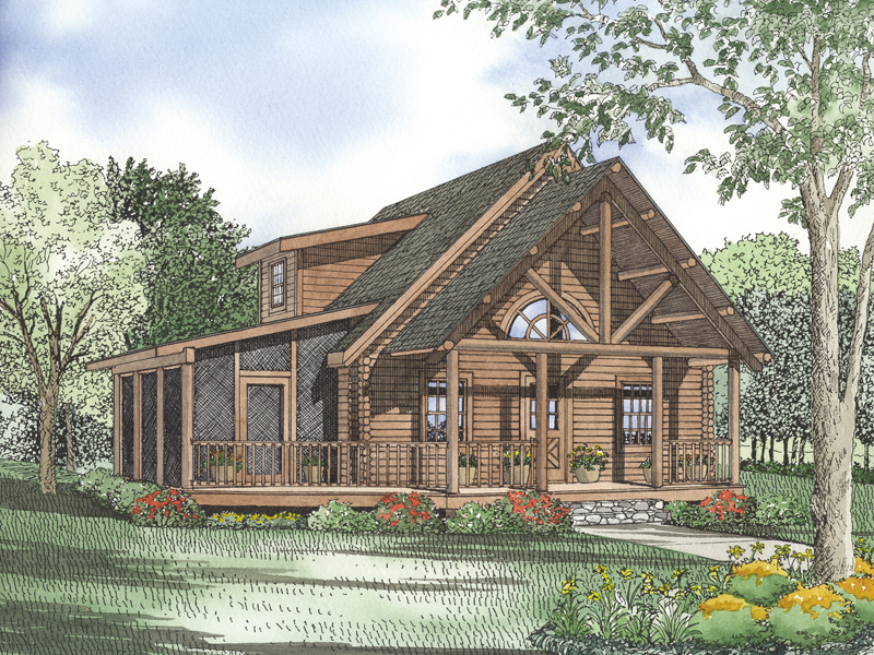 Rustic Log Home With Unbelievable Beam Design