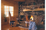 Country House Plan Fireplace Photo 01 - Cheyenne Creek Rustic Log Home 073D-0032 | House Plans and More