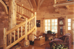 Country House Plan Great Room Photo 01 - Cheyenne Creek Rustic Log Home 073D-0032 | House Plans and More