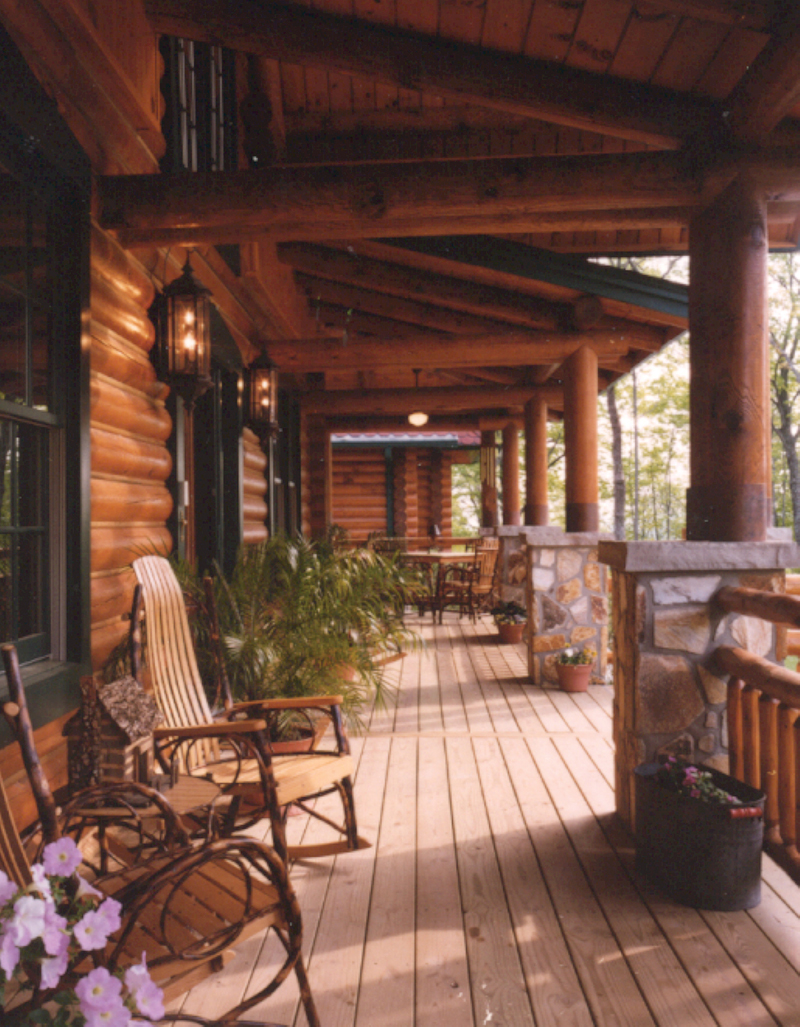 Luxury House Plan Deck Photo 01 - Duck Bay Luxury Log Home 073D-0055   House Plans and More