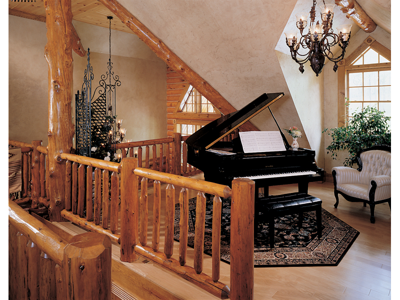 Luxury House Plan Music Room Photo 01 - Duck Bay Luxury Log Home 073D-0055   House Plans and More