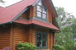 Luxury House Plan Window Detail Photo - Duck Bay Luxury Log Home 073D-0055   House Plans and More