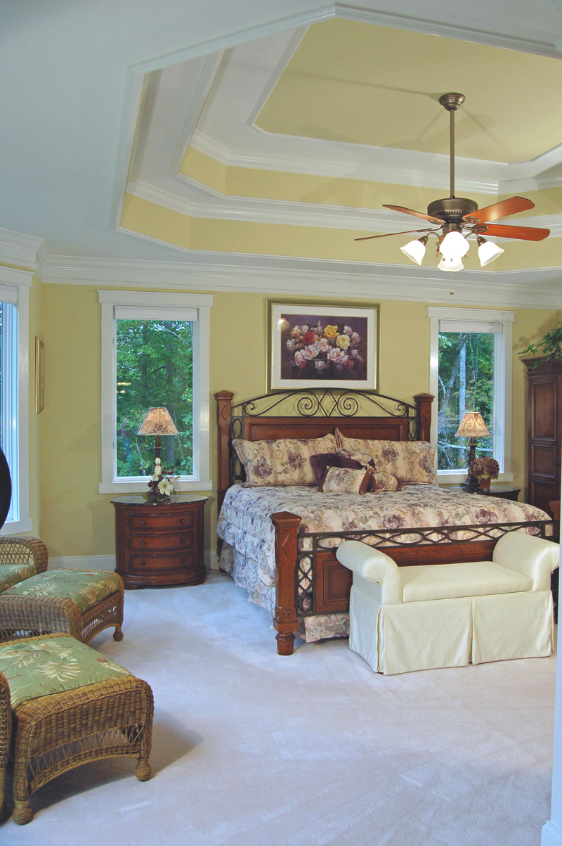 Luxury House Plan Bedroom Photo 01 - Lemonwood Arts And Crafts Home 076D-0204 | House Plans and More