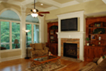 Luxury House Plan Family Room Photo 03 - Lemonwood Arts And Crafts Home 076D-0204 | House Plans and More