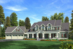 Luxury House Plan Front Image - Lemonwood Arts And Crafts Home 076D-0204 | House Plans and More