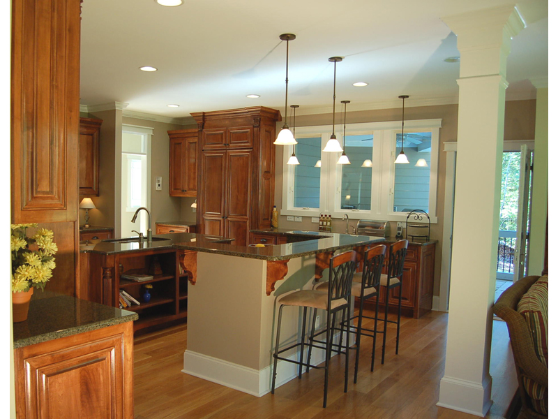 Luxury House Plan Kitchen Photo 02 - Lemonwood Arts And Crafts Home 076D-0204 | House Plans and More