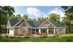 Traditional House Plan Front Of House 076D-0223