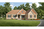 Craftsman House Plan Front Of House 076D-0231