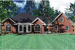 Ranch House Plan Front Image - Vassier Ranch Home 077D-0002 | House Plans and More
