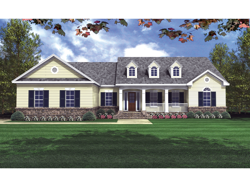 Pegasus Country Ranch Home Plan 077D-0057 | House Plans and More on ranch homes with landscaping, ranch homes with windows, split level homes with floor plans, craftsman homes with floor plans,