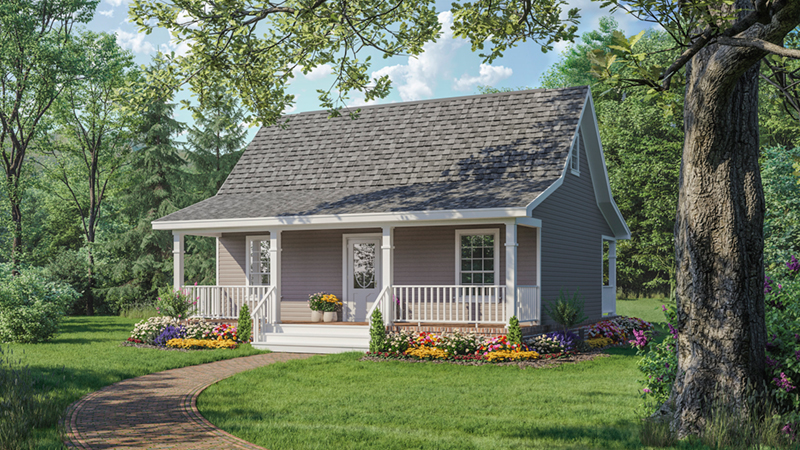 Edgelake Cabin Cottage Home Plan 077d 0086 House Plans And