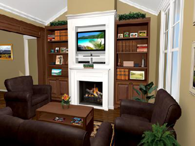 Craftsman House Plan Great Room Photo 01 - Ridgeforest Craftsman Home 077D-0138 | House Plans and More