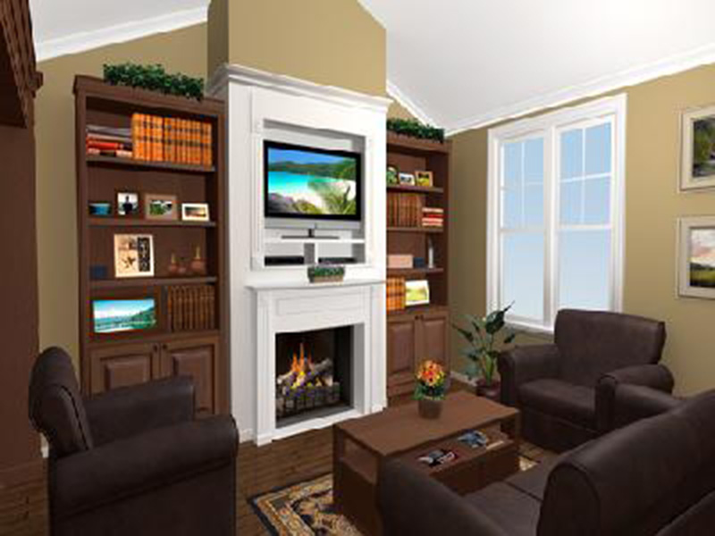 Craftsman House Plan Great Room Photo 02 - Ridgeforest Craftsman Home 077D-0138 | House Plans and More