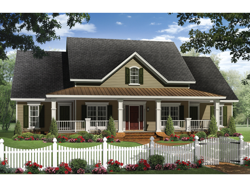 Boschert Country Ranch Home Plan 077D-0191 | House Plans and ... on