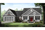 Country House Plan Front of Home - Upmoore Craftsman Home 077D-0209 | House Plans and More