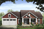 Craftsman House Plan Front of Home - Kelly Leaf Craftsman Ranch Home 077D-0213 | House Plans and More