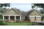Ranch House Plan Front of Home - Kirkham Park Craftsman Home 077D-0223 | House Plans and More