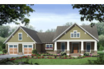 Country House Plan Front of Home - Bisbee Craftsman Home 077D-0236 | House Plans and More