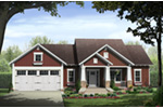 Country House Plan Front of Home - Blackberry Craftsman Home 077D-0237 | House Plans and More