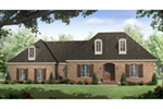 Country French House Plan Front of Home - Oak Brook Country French Home 077D-0247 | House Plans and More