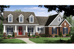 Ranch House Plan Front of Home - Meadowood Craftsman Home 077D-0249 | House Plans and More