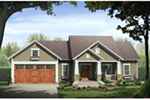 Cabin & Cottage House Plan Front of Home - Lee's Landing Country Home 077D-0250 | House Plans and More