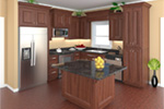 Cabin & Cottage House Plan Kitchen Photo 01 - Lee's Landing Country Home 077D-0250 | House Plans and More