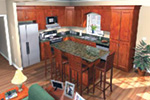 Cabin & Cottage House Plan Kitchen Photo 02 - Lee's Landing Country Home 077D-0250 | House Plans and More