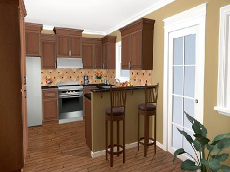 Cabin & Cottage House Plan Kitchen Photo 04 - Lee's Landing Country Home 077D-0250 | House Plans and More