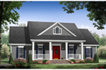 Country House Plan Front of Home - Iris Court Country Farmhouse 077D-0251 | House Plans and More