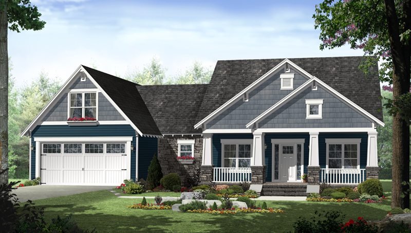 Ranch House Plan Front of Home - Westwood Park Country Home 077D-0252 | House Plans and More