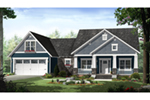 Craftsman House Plan Front of Home - Westwood Park Country Home 077D-0252 | House Plans and More