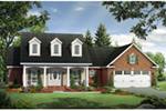 Farmhouse Plan Front of Home - Carter Hill Country Farmhouse 077D-0255 | House Plans and More