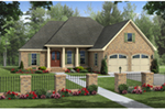 Country French House Plan Front of Home - Brentwood Place Country Home 077D-0258 | House Plans and More
