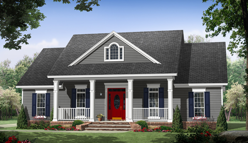 Country House Plan Front of Home - Williamsberg Country Home 077D-0259 | House Plans and More