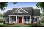 Farmhouse Plan Front of Home - Williamsberg Country Home 077D-0259 | House Plans and More