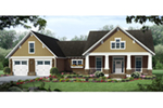 Rustic Home Plan Front of Home - Poplar Ridge Country Home 077D-0262 | House Plans and More