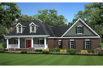 Traditional House Plan Front of Home - Edgemont Hill Country Home 077D-0263   House Plans and More