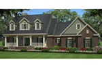 Farmhouse Plan Front of Home - Westover Lane Country Home 077D-0264 | House Plans and More