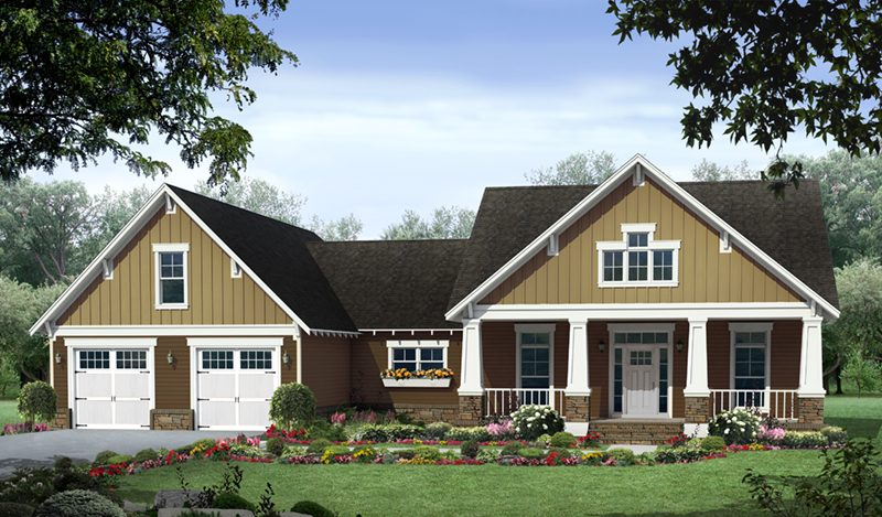 Craftsman House Plan Front of Home - Poplar Cove Craftsman Home 077D-0265 | House Plans and More